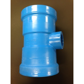 Pvc Fitting Dr18 Pvc Gasketed 10'' (D) X 2'' (D)